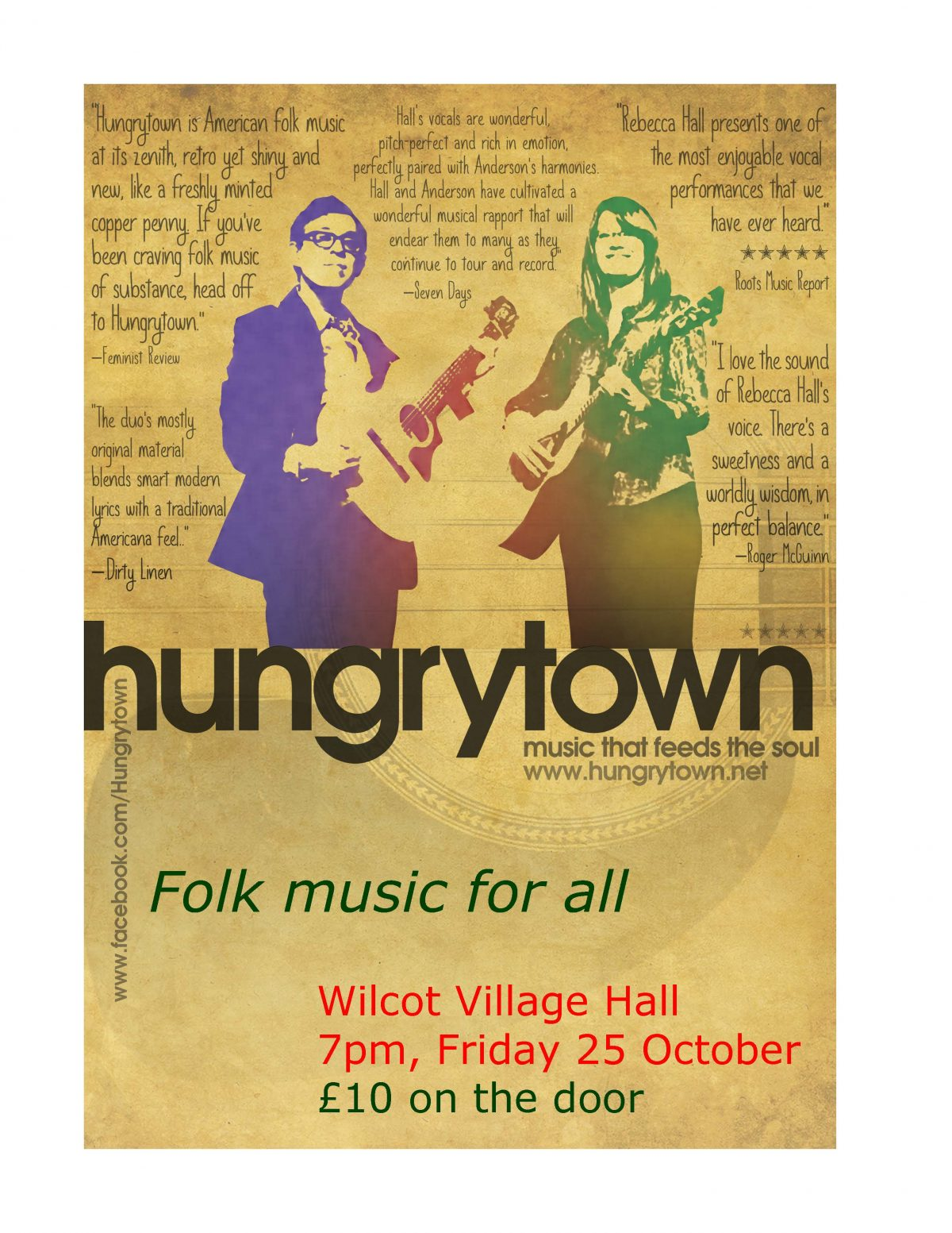 Wiltcot Village Hall Hungrytown October 2019 Event Poster