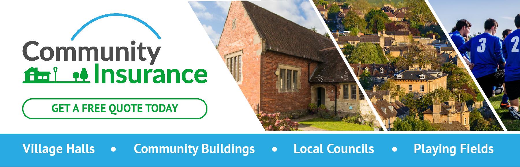 Village Hall Insurance Banner
